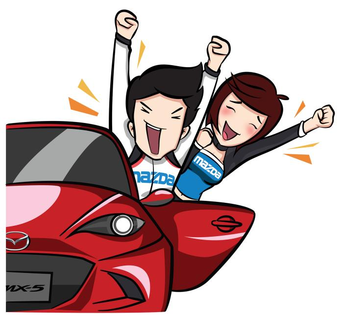 Mazda LINE Sticker_for PR_Mar18